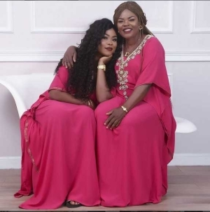 Photo: Actress Daniella Okeke And Her Lookalike Mom Rock Matching Pink Gown